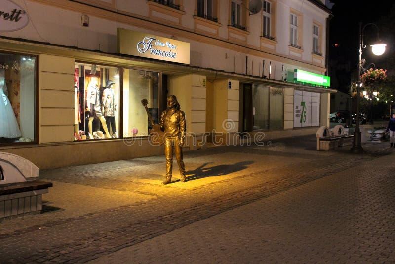 Rzeszow, Polônia - 6 de outubro de 2013: Monumento a Tadeusz Nalepa imagens de stock