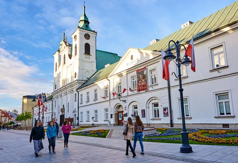 RZESZOW, POLAND - MAY 4, 2019: The former Piarist monastery now royalty free stock photography