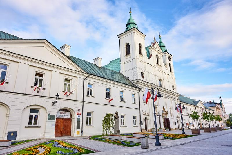 RZESZOW, POLAND - MAY 4, 2019: The former Piarist monastery now stock images