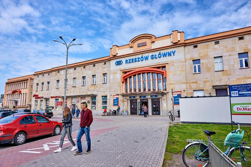 RZESZOW, POLAND - MAY 4, 2019: Main station on 4 May 2019 in Rze stock photos