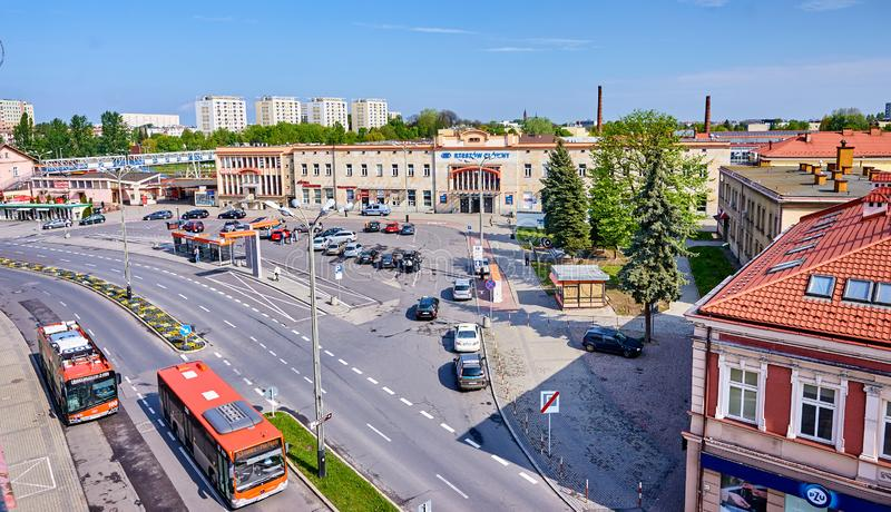 RZESZOW, POLAND - MAY 4, 2019: Main station on 4 May 2019 in Rze royalty free stock photography