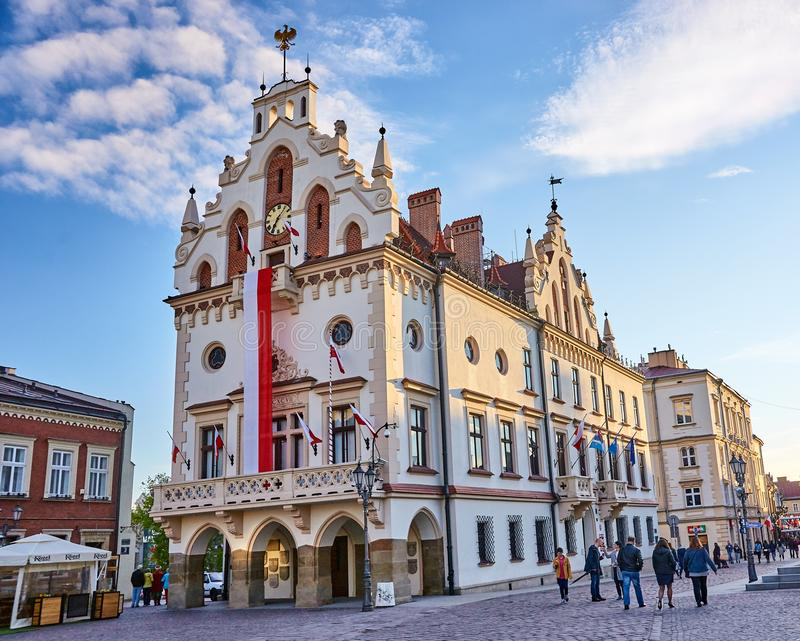 RZESZOW, POLAND - MAY 4, 2019: The old square on 4 May 2019 in R royalty free stock images