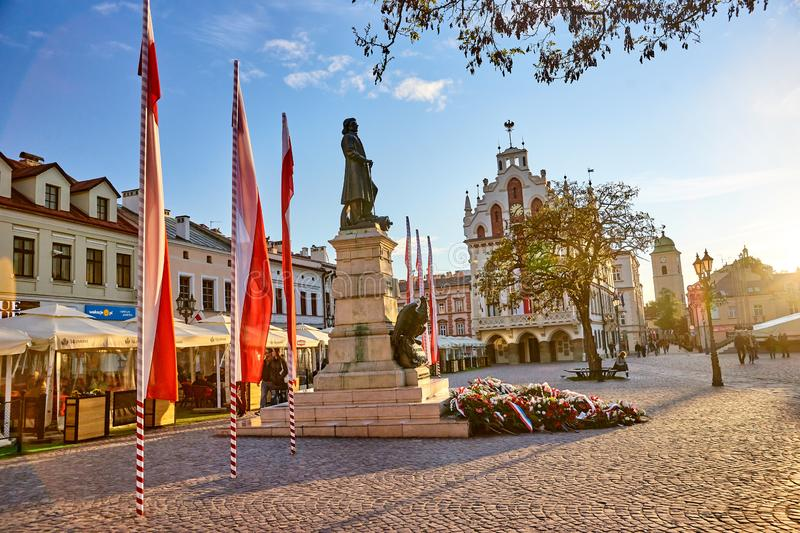 RZESZOW, POLAND - MAY 4, 2019: The old square on 4 May 2019 in R royalty free stock photos
