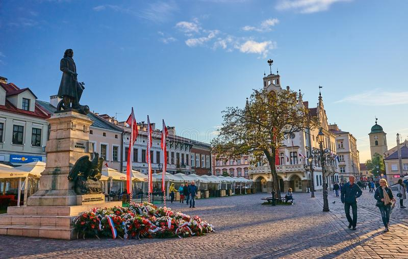 RZESZOW, POLAND - MAY 4, 2019: The old square on 4 May 2019 in R stock image