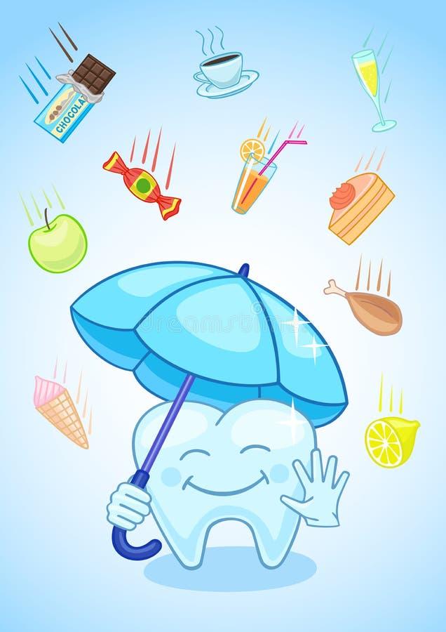 Rzetelna ząb ochrona ilustracja wektor