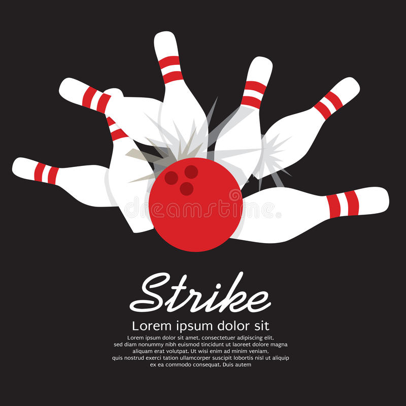 Rzucać kulą strajka ilustracja wektor