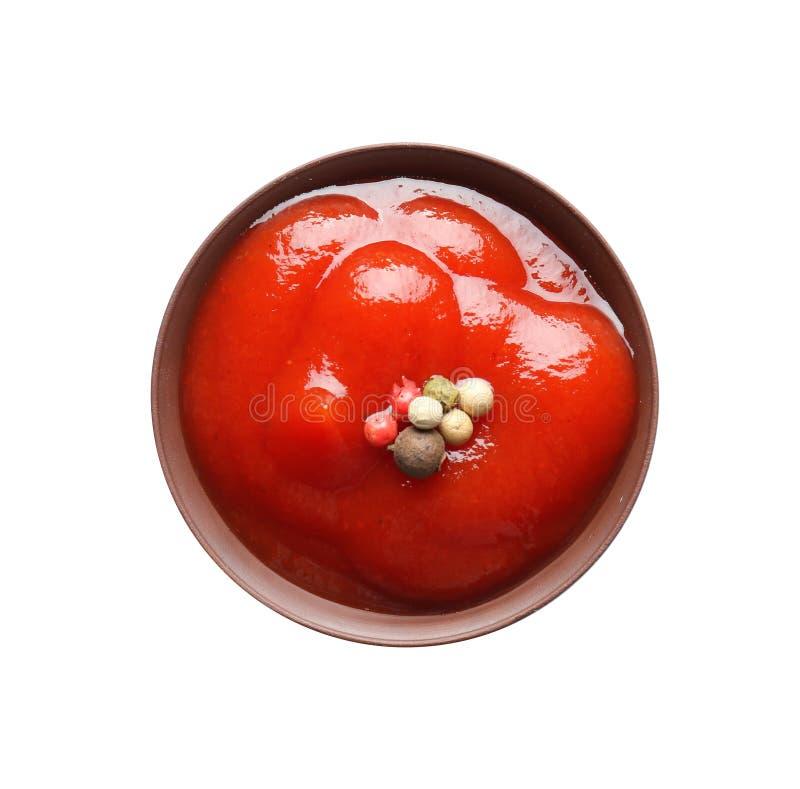 Rzuca kulą z pomidorowego kumberlandu i czarnego pieprzu mignonette fotografia stock