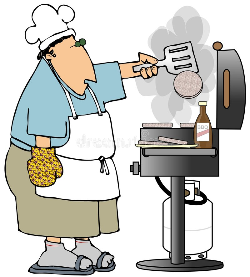 rzucić hamburgerów royalty ilustracja