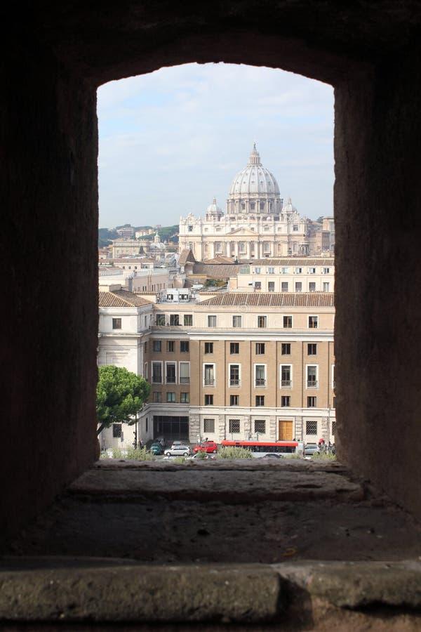 Rzym †'świętego Peter bazylika od Castel Sant'Angelo obraz royalty free