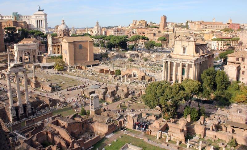 Rzym †'forum od palatynu wzgórza zdjęcie royalty free