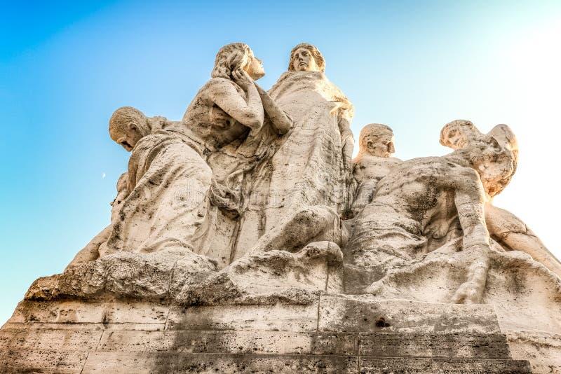 Rzym antyczne rzeźby Su i księżyc emocje Część most wycieczka zdjęcia royalty free