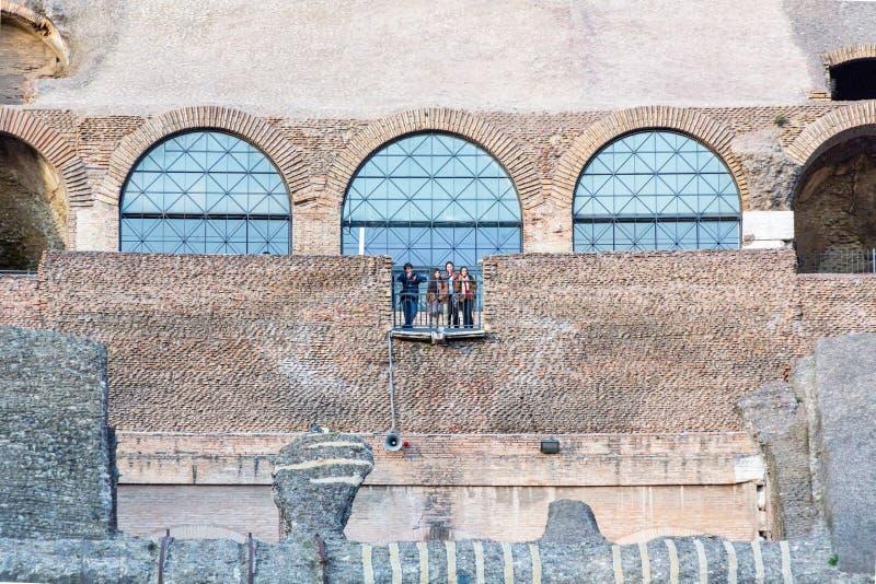 Rzym Colosseum przy zmierzchem zdjęcia royalty free