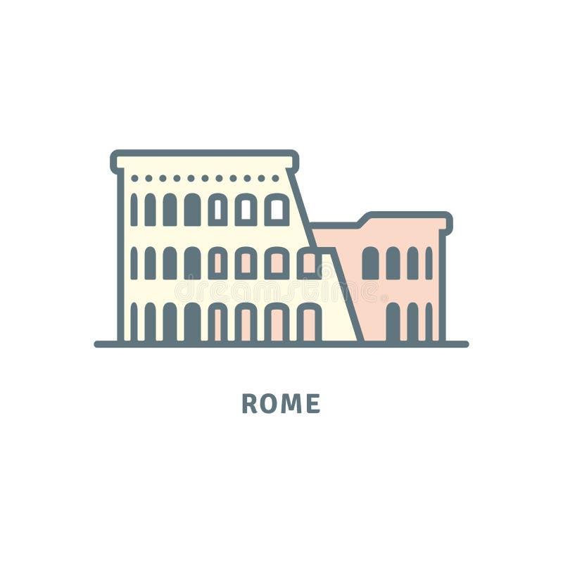 Rzym Colosseum rujnuje wektorową ilustrację ilustracji