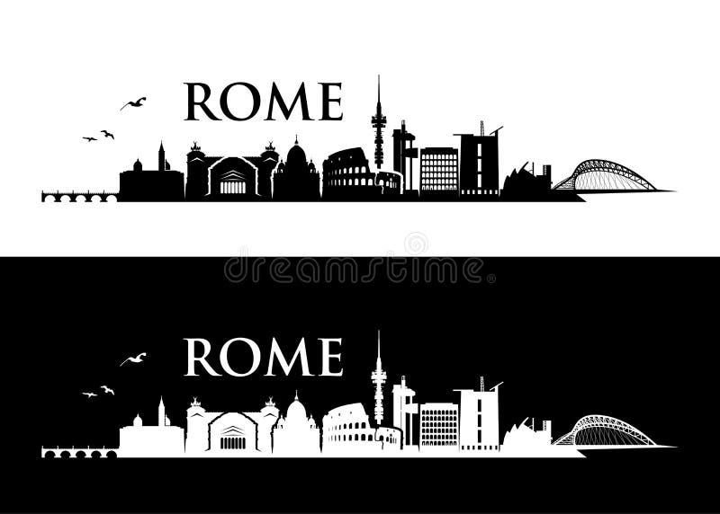 Rzym linia horyzontu wektorowa ilustracja - Włochy - ilustracji