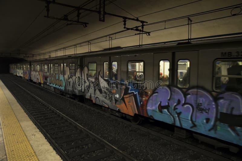 Rzym metra podziemna sztuka, obraz stock