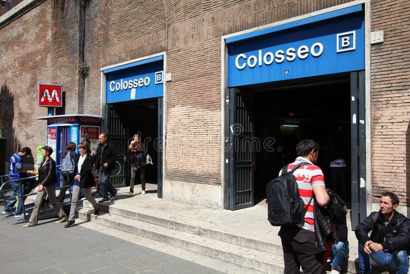 Rzym Metro obraz stock