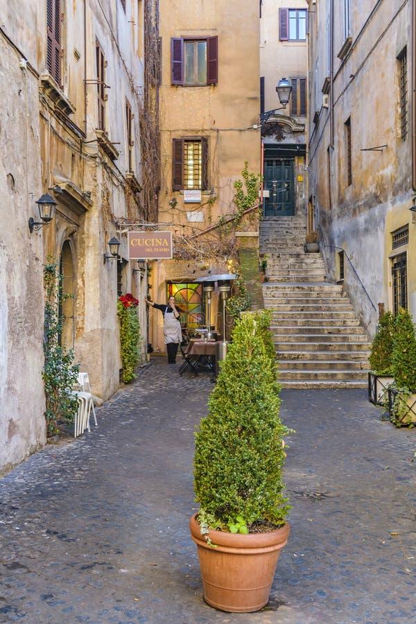 Rzym miasta ulicy scena obrazy royalty free