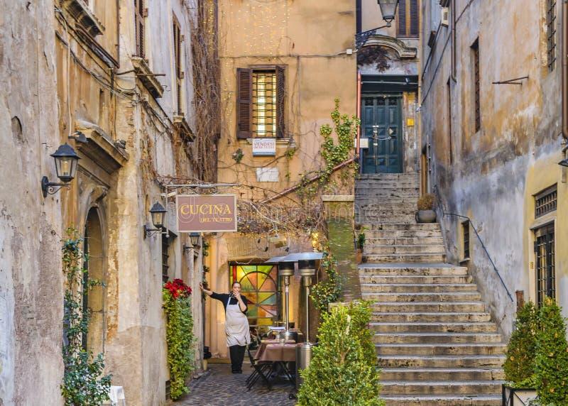 Rzym miasta ulicy scena zdjęcie stock