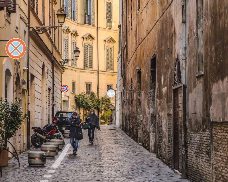 Rzym miasta ulicy scena obrazy stock