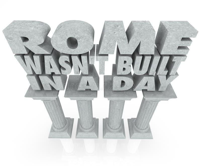 Rzym no Budował w dniu Mówi wycena Marmurowych kolumn filary ilustracji