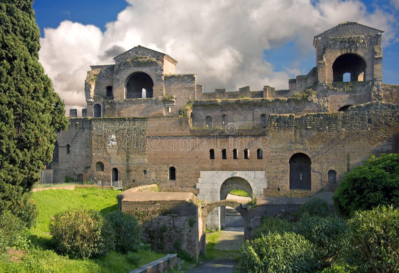 Rzym piazza San Giovanni archeologii archeological wykopaliska obraz royalty free