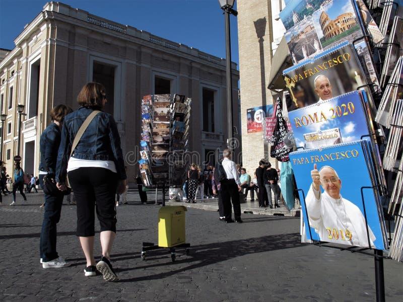 Rzym, Pope pocztówki dla sprzedaży obrazy royalty free