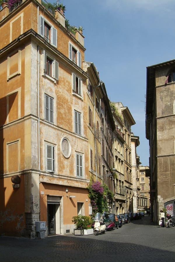 Rzym starej ulicy budynku. obraz royalty free