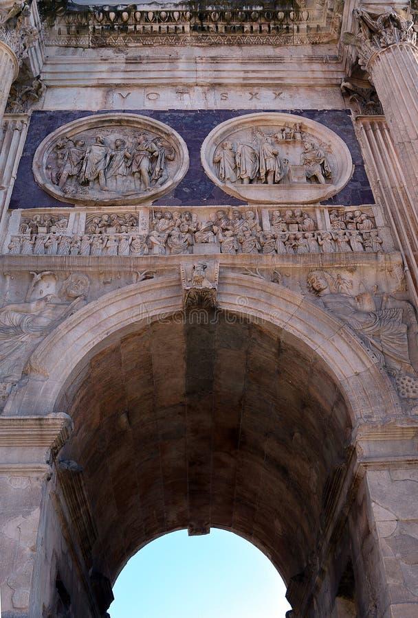 Rzym: szczegół od łuku Constantine zdjęcia stock