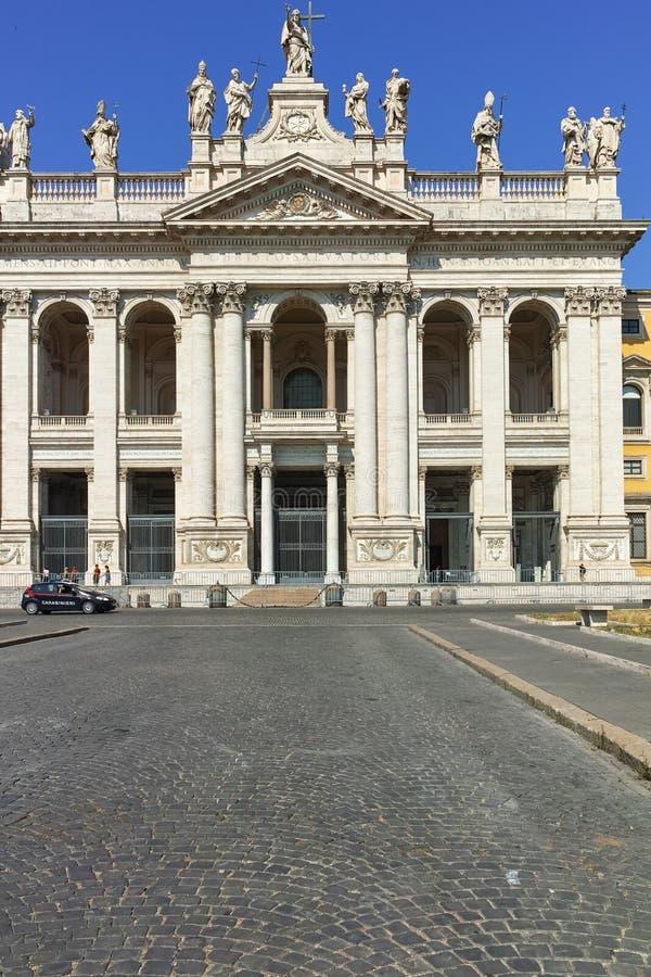 RZYM WŁOCHY, CZERWIEC, - 25, 2017: Bazylika San Giovanni w Laterano bazylice Di San Giovanni w Laterano w mieście Rzym zdjęcie stock