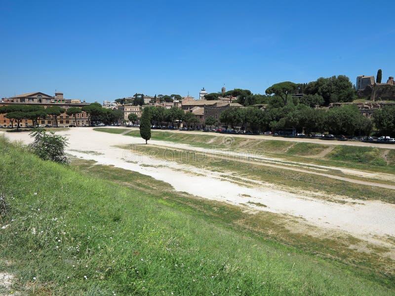 19 06 2017, Rzym, Włochy, Europa: Widok Cyrkowy Maximus i Pala zdjęcie royalty free