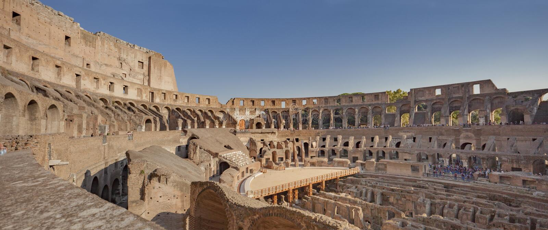RZYM, WŁOCHY - SEPTEMBER15, 2011: Colosseum obraz royalty free