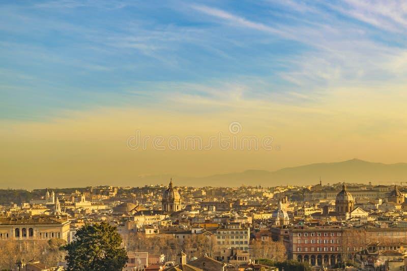 Rzym widok z lotu ptaka od Gianicolo okręgu obrazy royalty free