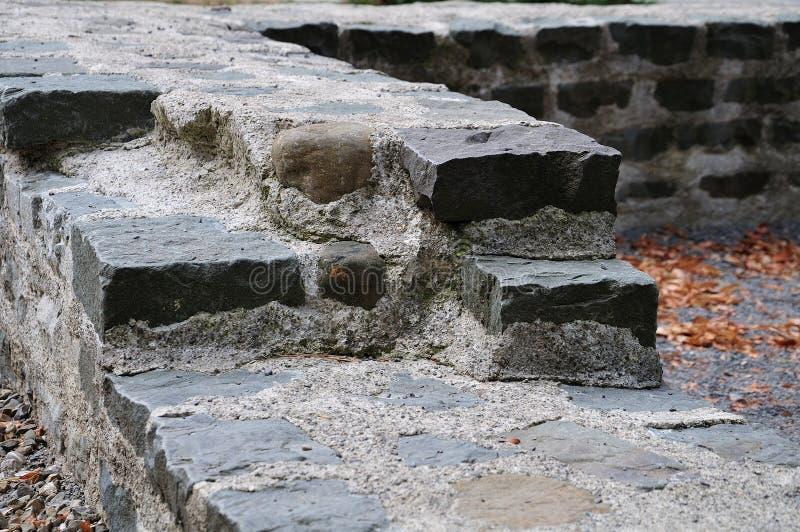 Rzymianin ściany czerepy w Kempten, Niemcy fotografia royalty free