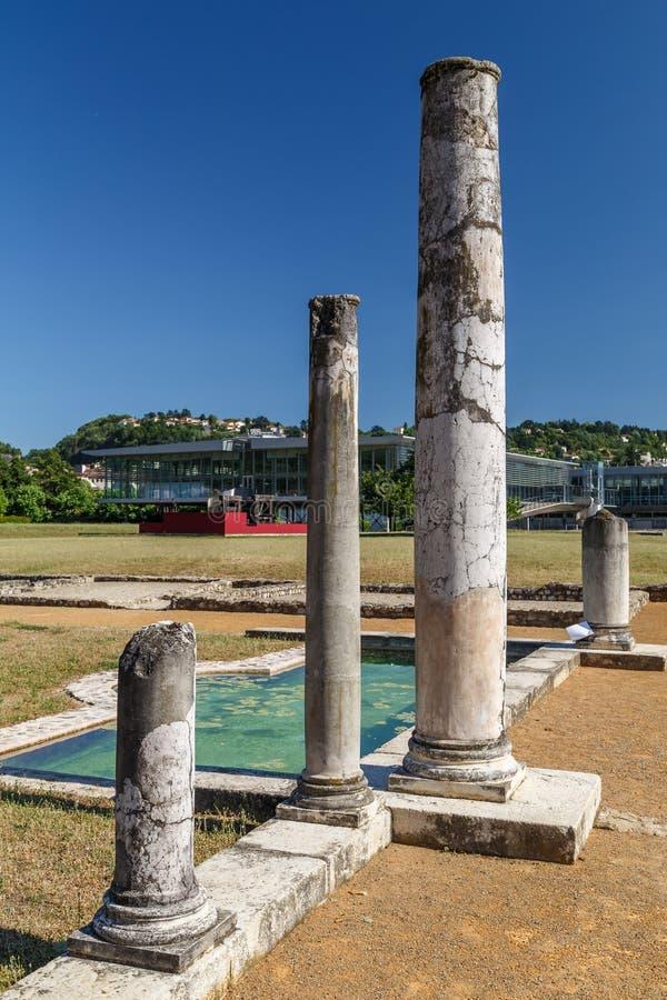 Rzymianin ruiny w Gal miasteczku obraz stock