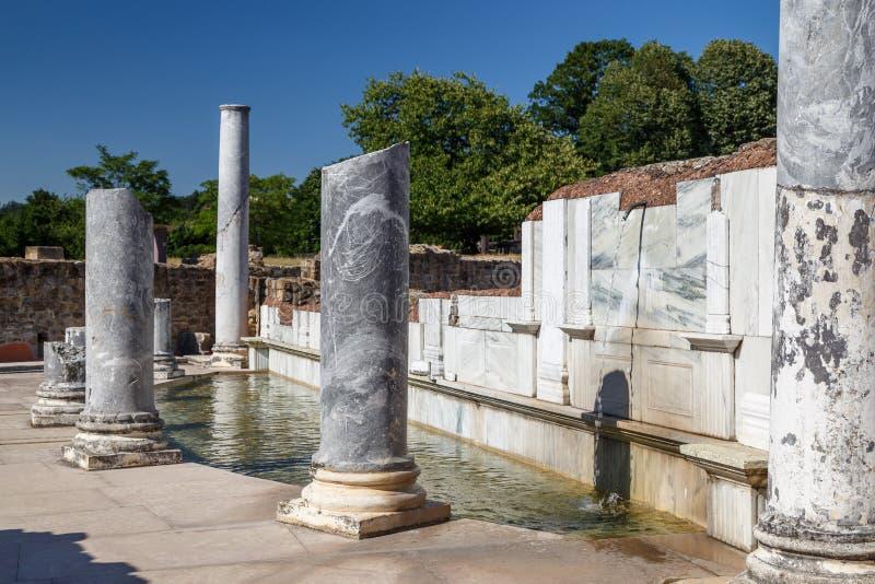 Rzymianin ruiny w Gal miasteczku zdjęcie stock