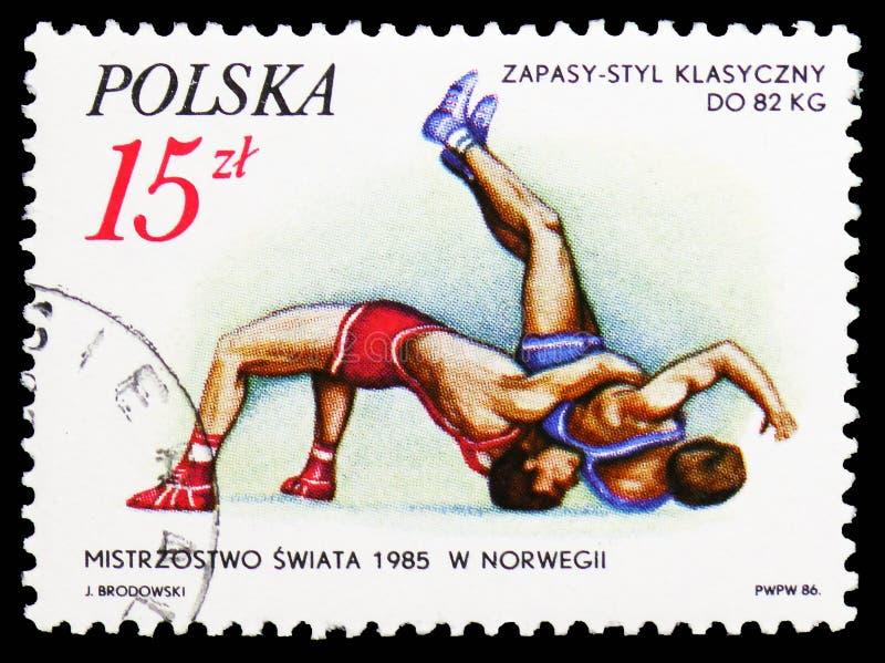 rzymianina zapaśnictwo, Kolboten, b Daras, sukcesy Polscy sportowowie w 1985 seria około 1986, fotografia royalty free