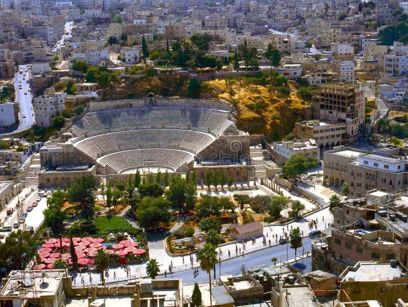 rzymski Amman amphitheatre zdjęcie royalty free