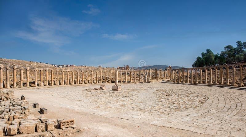 Rzymski forum Jerash, Jordania obraz stock