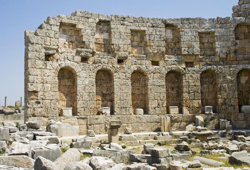 rzymski kąpielowy perga zdjęcia stock