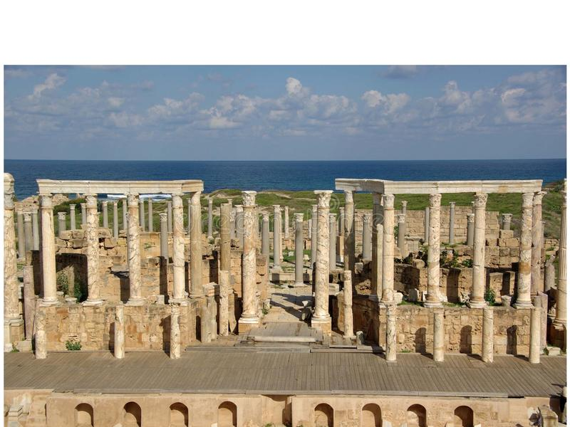 rzymski Libya theatre obraz stock