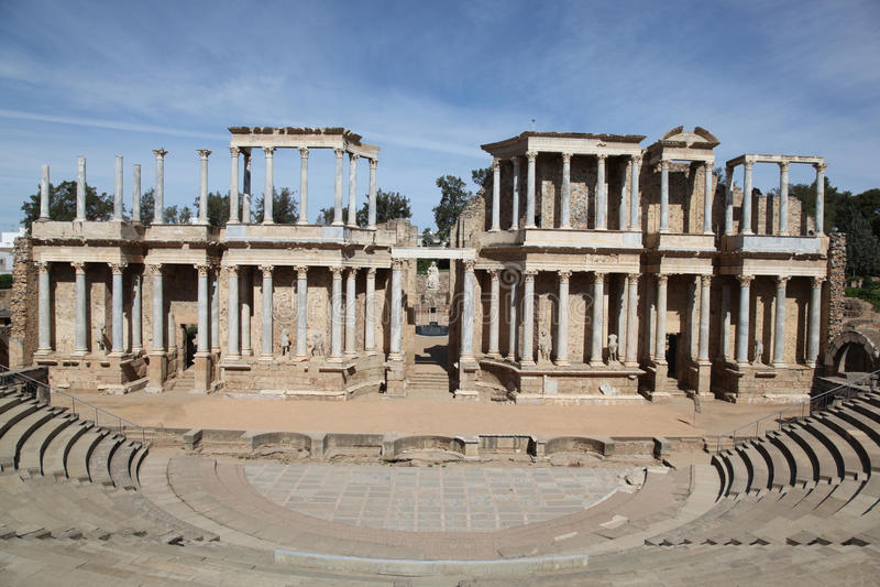 rzymski Merida theatre Spain obraz stock