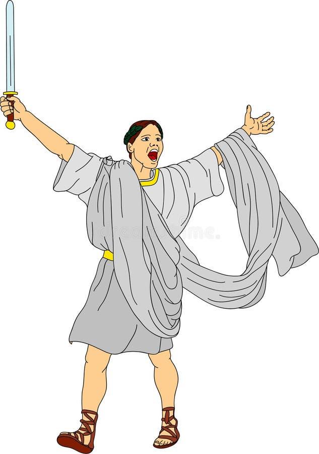 rzymski zwycięski royalty ilustracja