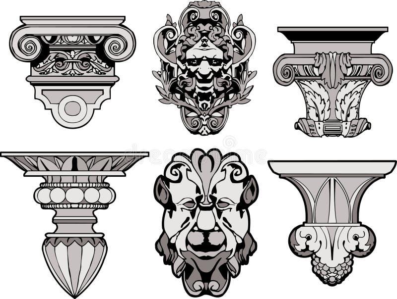 Rzymskie Architektoniczne Dekoracje Obrazy Royalty Free