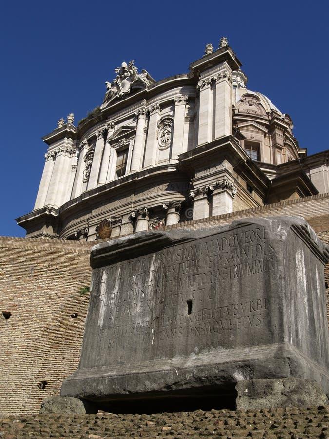 rzymskie ruiny starożytnego forum obraz royalty free