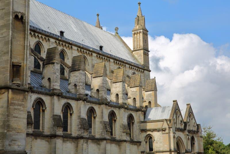 Rzymskokatolicka katedra St John baptysta w Norwich, Norfolk, UK †architektura 'szczegół obrazy stock