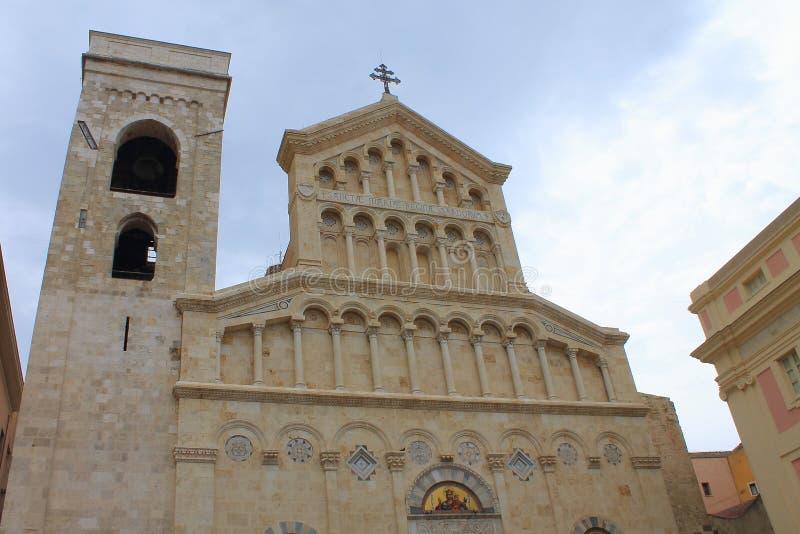 Rzymskokatolicka katedra w Cagliari Sardinia Włochy zdjęcia stock