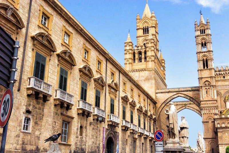 Rzymskokatolicka Wielkomiejska archidiecezja Palermo w Palermo, Włochy zdjęcie stock