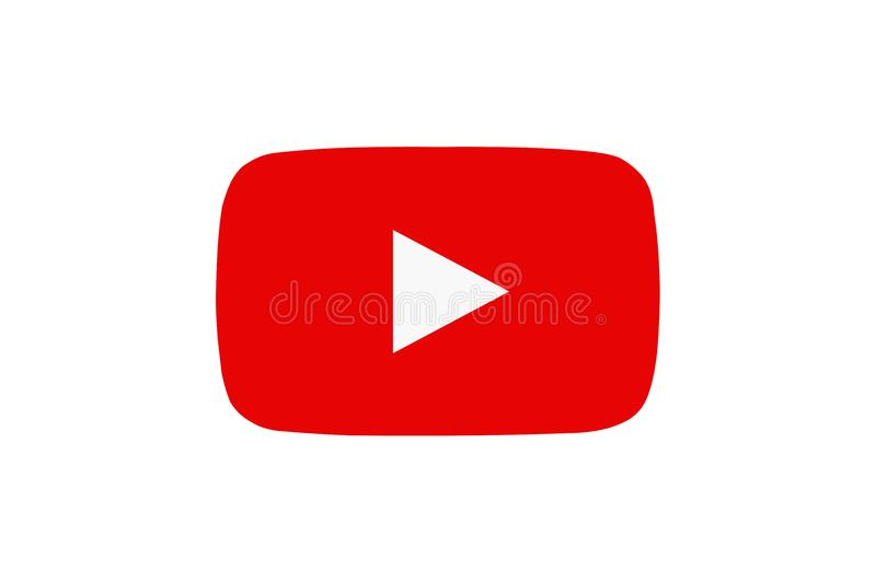 Röd Youtube symbol med materiell design vektor illustrationer