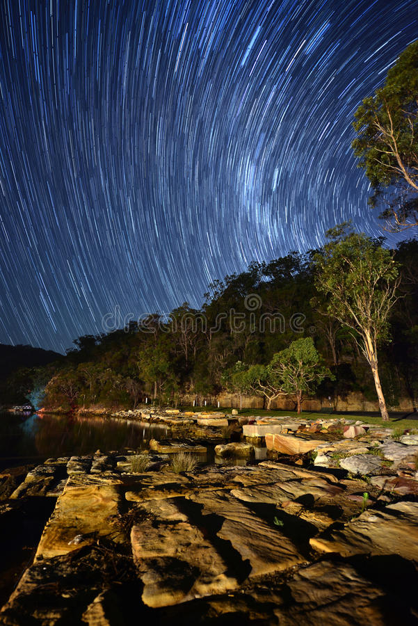 Sะar trail. From north side of Sydney, Australia stock photos