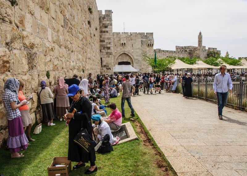 Sábado santamente no Jerusalém fotografia de stock